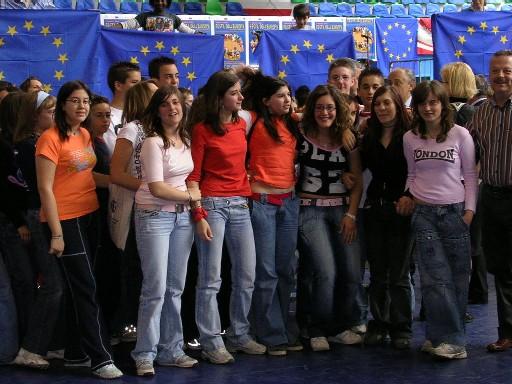 """premiazione concorso canoro """"festa per l'Europa"""" - Milano 2005"""